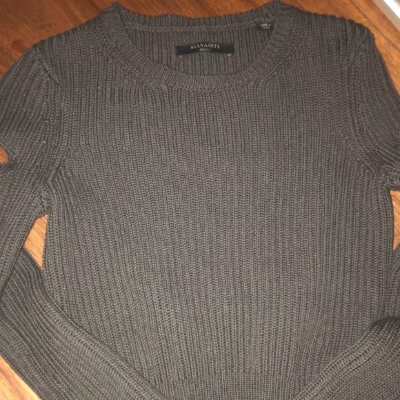 5ecd8af76c6 All saints RIa cropped jumper sweater grey small